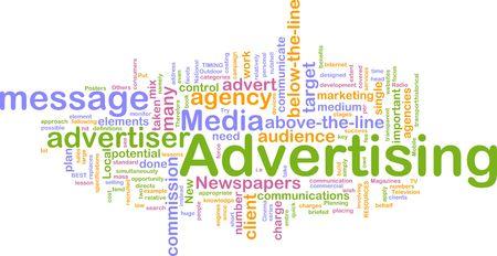 Word cloud concept illustration of advertising marketing Stock Illustration - 5058897