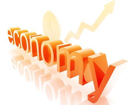 stockmarket: Finance economy trend concept illustration improving upwards