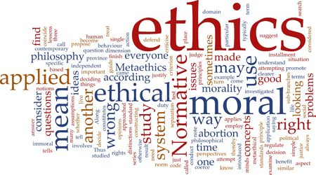 Word cloud concept illustration of moral ethics Stock Illustration - 5092607