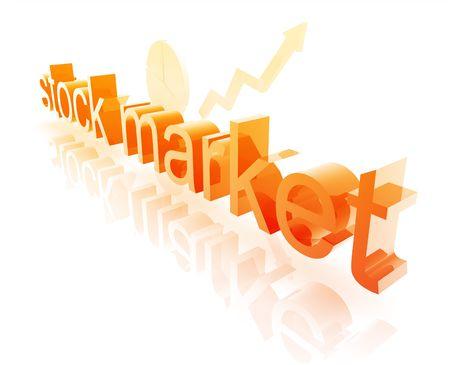 stockmarket: Stock market estate economy trend concept illustration improving upwards