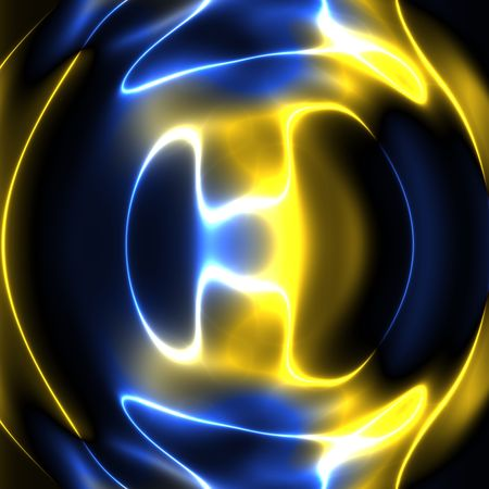 Swirly wavy circular flowing energy and colors, abstract illustration Stock Illustration - 5092866