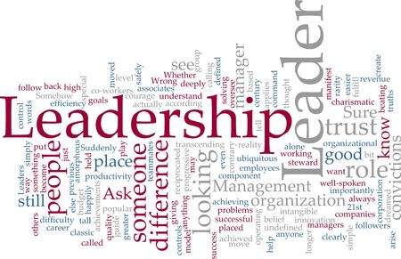 tagcloud: Word cloud concept illustration of leadership management