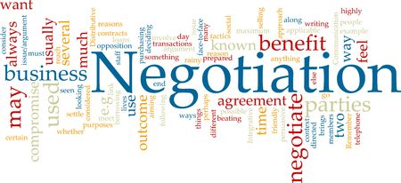 context: Word cloud concept illustration of negotiation business Stock Photo