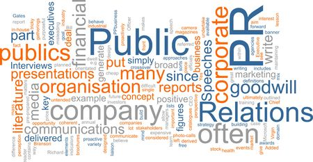human relations: Word cloud concept illustration of public relations Stock Photo