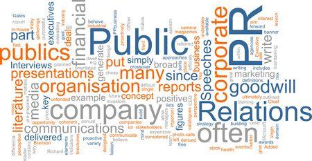 relations publiques: Word nuage concept illustration des relations publiques