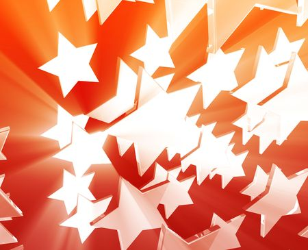 five pointed: Abstract geometric wallpaper background of dynamic flying stars