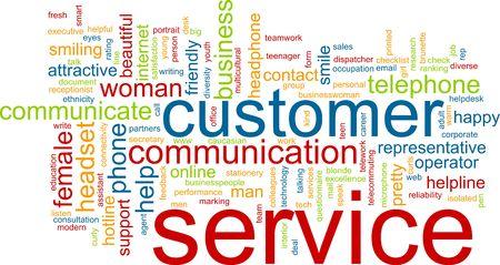 Word cloud concept illustratie van de klantenservice Stockfoto
