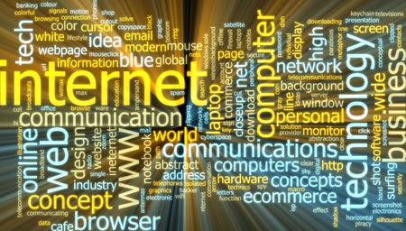 word www: Word cloud concept illustration of internet web glowing light effect  Stock Photo