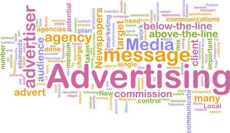 Word nuage concept illustration de publicité marketing