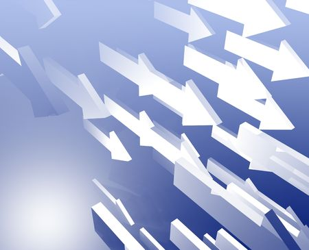 fleet: Forward moving arrows flying group design illustration Stock Photo