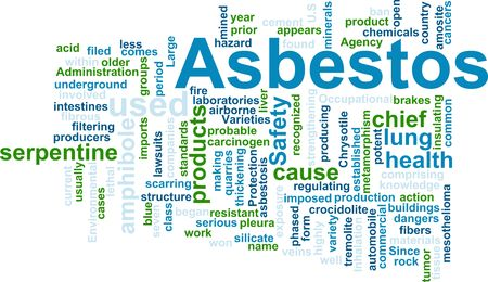 Word cloud concept illustration of  asbestos hazard Stock Illustration - 5158442