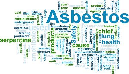 filtering: Word cloud concept illustration of  asbestos hazard