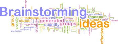 brain storming: Word cloud concept illustration of Brainstorming brain storming