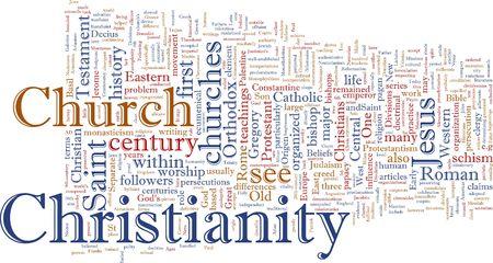 Word cloud concept illustration of  Christian religion Stock Illustration - 5158463