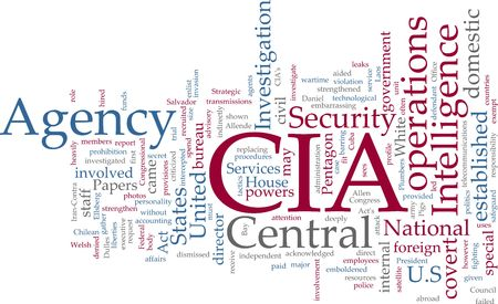 Word cloud concept illustration of  CIA Central Intelligence Agency Stock Illustration - 5158588