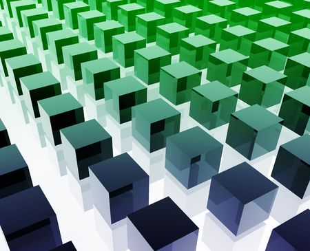 organized group: Cubes grid illustration glossy metal style isolated