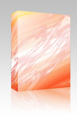Software package box Pulsating energy beam ray abstract design illustration illustration