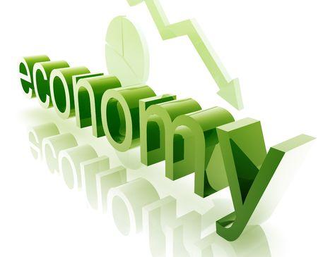 Finance economy trend concept illustration worsening downwards Stock Illustration - 5158563