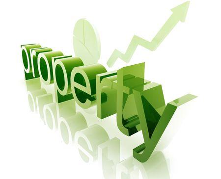 increasing: Property real estate economy trend concept illustration improving upwards