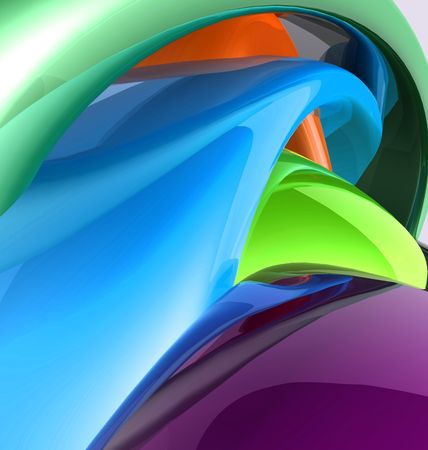 Abstract wallpaper background illustration of smooth glossy colors Stock Illustration - 5158450