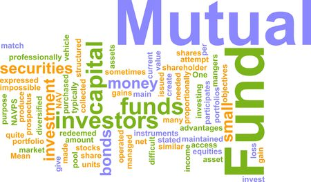 mutual fund: Word cloud concept illustration of  mutual fund Stock Photo