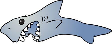 starving: Cutecartoon flying bird wild animal illustration Stock Photo