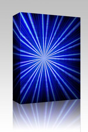 Software package box Radial zoom burst of energy, abstract background illustration illustration