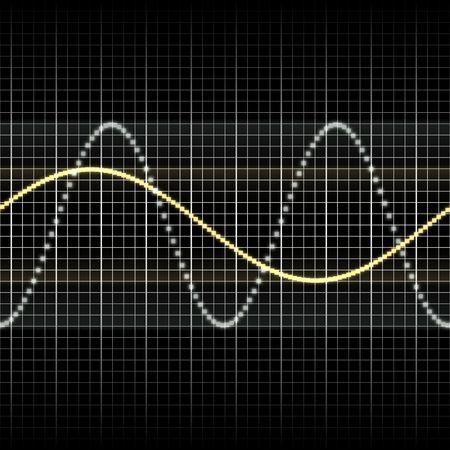 wellenl�nge: Zusammenfassung generische Wissenschaft Audio Wellen Messwertanzeige illustration