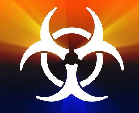 biohazard: Biohazard sign, warning alert for hazardous bio materials