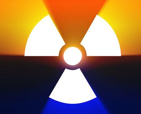 Illustration of radiation hazard warning alert symbol Stock Illustration - 5158198