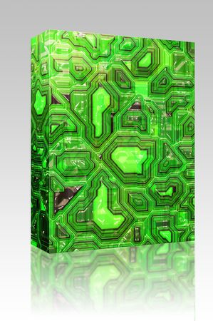 Software package box Abstract high tech circuitry background wallpaper illustration illustration