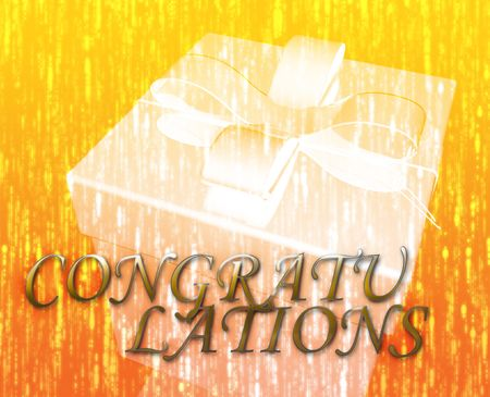 Congratulations festive special occasion celebration abstract illustration illustration