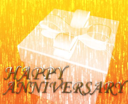 Happy anniversary festive special occasion celebration abstract illustration Stock Illustration - 5158552