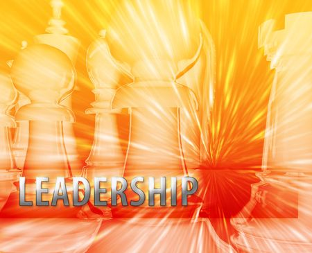 themed: Abstract leadership business strategy management chess themed illustration