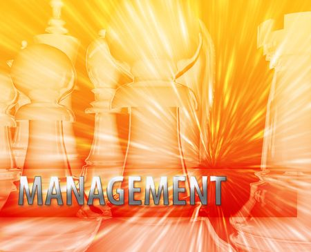 Abstract business strategy management chess themed illustration Stock Illustration - 5158487