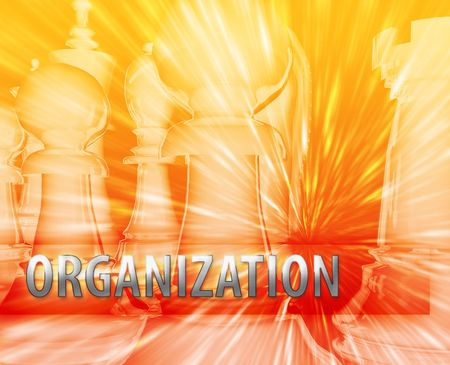 Abstract organization business strategy management chess themed illustration Stock Illustration - 5158492