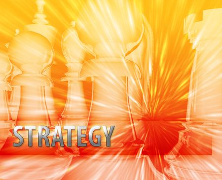 themed: Abstract business strategy management chess themed illustration Stock Photo