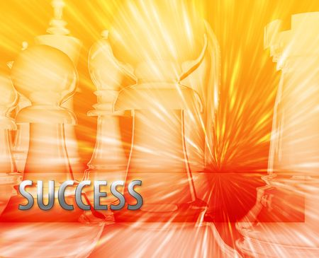 Abstract success business strategy management chess themed illustration illustration