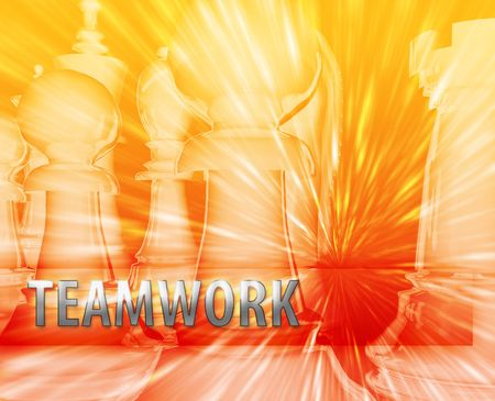 Abstract teamwork business strategy management chess themed illustration illustration