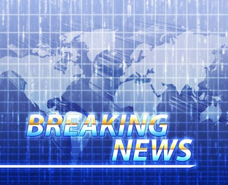 Latest breaking news newsflash splash screen announcement illustration Stock Illustration - 5158491