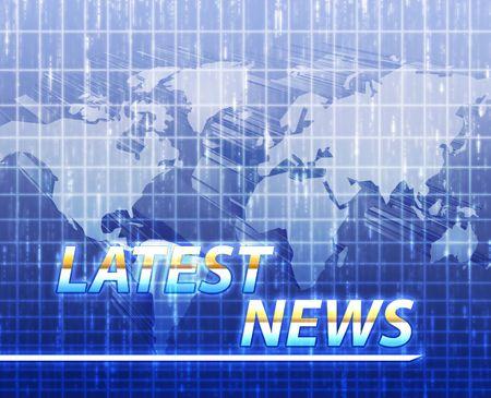 Latest breaking news newsflash splash screen announcement illustration Stock Illustration - 5158570