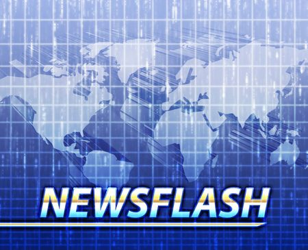 Latest breaking news newsflash splash screen announcement illustration Stock Illustration - 5158565