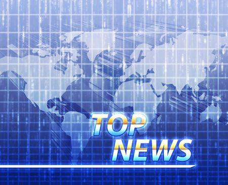 rompiendo: �ltimas noticias Noticias pantalla de anuncio de la ilustraci�n Foto de archivo