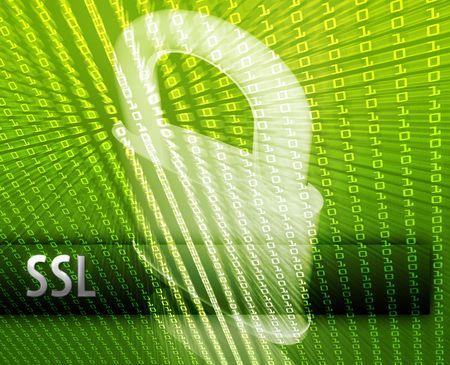 sauvegarde: La s�curit� informatique en ligne ssl illustration avec cadenas ferm�