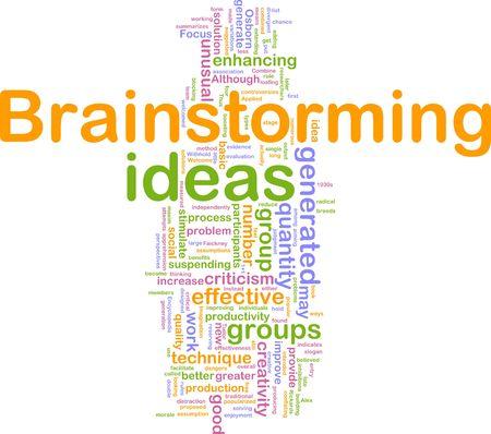 Illustrazione concetto Word nube di brain storming Brainstorming