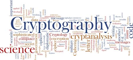 Word cloud concept illustration of cryptography encryption Stock Illustration - 5361151