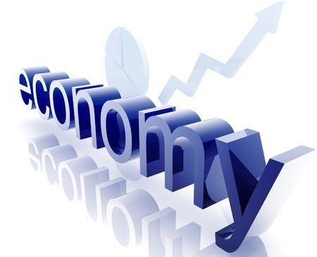uptrend: Finance economy trend concept illustration improving upwards