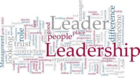 Ilustración de concepto de nube de Word de la gestión de liderazgo