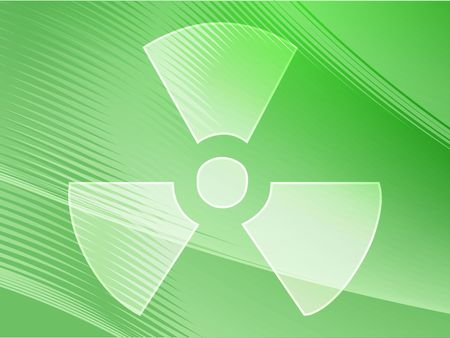 radiation hazard: Illustration of radiation hazard warning alert symbol