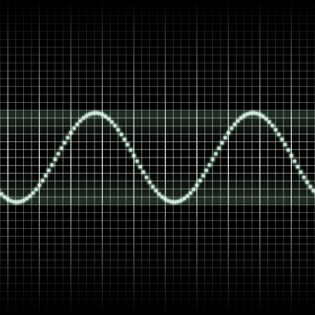 audio wave: Abstract generic science audio waves measurement display illustration
